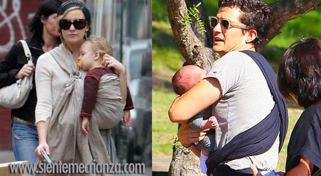 famosos crianza en brazos