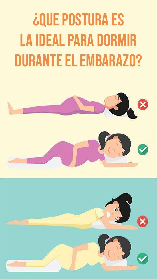 Posturas para dormir embarazada